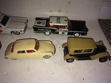 12 Vintage Police Car,Citroen,Ambulance,Still Bank,Noisemakers Japan Tin Toys