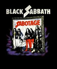 BLACK SABBATH cd cvr SABOTAGE VINTAGE Official SHIRT LRG New ozzy osbourne