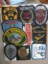 Lot of 10  Police and Security Patches Atlantic  Tab Quest Royal Guard A-6