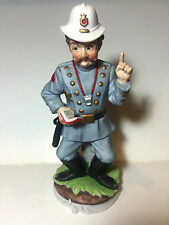"Lefton China Porcelain Policeman Police Officer 8"" Figurine Statue Hand Painted"