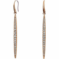 MICHAEL KORS MKJ3514791 BRILLIANCE Rose Gold Tone Swarovski Crystals Earrings