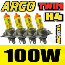 FORD TRANSIT CONNECT H4 XENON YELLOW 100W HEADLIGHT BULBS X4 SPARE ALL WEATHER