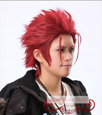 New K Suoh Mikoto Red short Cosplay Hair Wig + free wig cap