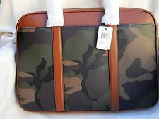 Coach Green Camo Slim Briefcase in Printed Coated Canvas - #F55136 - NWT $495