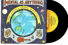 "MENTAL AS ANYTHING - THE WORLD SEEMS DIFFICULT - PROMO 7"" 45 RECORD PIC SLV 1989"