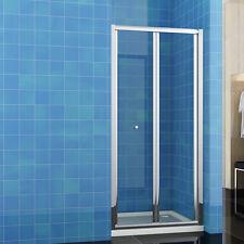 86x185cm Duschabtrennung Duschwand Walk in Dusche Falttür Nischentür Echtglas