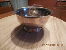 "Silver Plated Pedestal Footed 5"" Bowl Dish Paul Revere Gorham Anchor EP YC778"