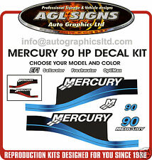 MERCURY 90 hp OUTBOARD DECALS reproductions saltwater optimax EFI