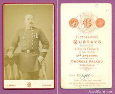 CDV BRIAND à CHÂLONS : MILITAIRE , OFFICIER MÉDAILLÉ CORPS ÉTAT MAJOR, 1880 -J85