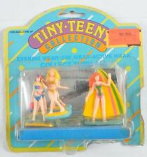 TARA TOY CORP TINY TEENY COLLECTION ACTIVE WEAR FIGURES SWIMMING AND SURFING