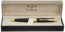 NEW PARKER ASTER MATTE BLACK GT BALL POINT PEN WITH FREE WORLDWIDE SHIPPING