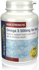 Simply Supplements Omega 3 for Kids 500mg 360 Capsules (S503)
