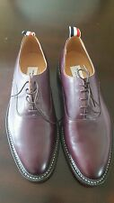 NWT $1150 THOM BROWNE Leather Oxford Shoes Burgundy 11