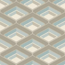 Retro Funky Geometric Glitter Wallpaper Teal Blue A16002 Free Delivery