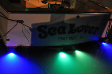 LED Puck Underwater Boat Light - Surface Mount Transom 6 watts (White)