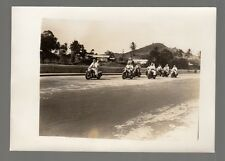 [J58134] 1940's PHOTOGRAPH U.S. NAVY MEN RIDING ON MOTORCYCLES WITH GIRLFRIENDS