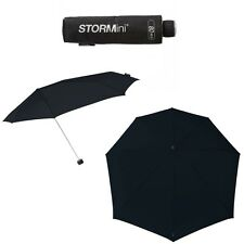 Compact Storm Umbrella in Black - Wind Resistant / Windproof to 80 km/h - NEW