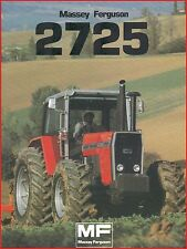 French Original  Prospect  Tracteur Tractor Massey Ferguson MF2725 / 2 pages