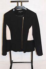 Black Rainn Women's Side Zip Up Blazer Jacket Office/ Career Wear Size XL