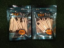 "2 Packs of TefTee Teflon Coated Golf Tees 2.75"" Drive 6.5 Yards LONGER (50 tees)"