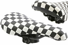 BLACK & WHITE CHEQUERED BMX SADDLE 80's RETRO OLD SCHOOL BMX SMALL SIZE SA9617