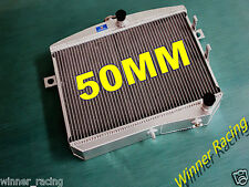 50MM 2-Row Aluminum Alloy Radiator Volvo Amazon P1800 W/B18 B20 GT M/T 1959-1970