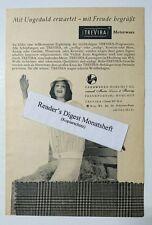 Werbeanzeige/advertisement A5: Trevira Meterware Kostüm Bluse 1957 (10071621)