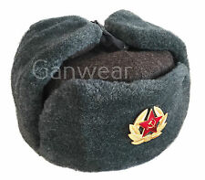 Russian Soviet Military USSR Army Cossack Trapper Fur Ushanka Hat Badge 58