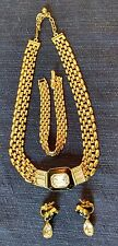 VINTAGE TRIFARI NECKLACE, BRACELET AND CLIP EARRING SET - EUC