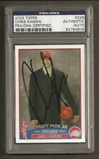 Chris Kaman Clippers 2003 Topps Rookie Signed Auto PSA/DNA ENCAPSULATED