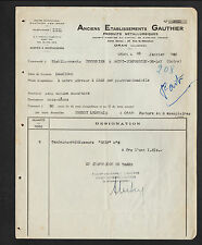 "ORAN / MOSTAGANEM (ALGERIE) METALLURGIE / QUINCAILLERIE ""Ets GAUTHIER"" en 1950"