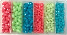 Glow in the Dark Glow Bead Kit in 3 Colors and 2 sizes 375 pieces in box