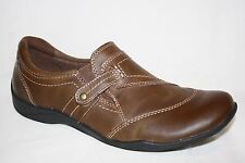 EARTH ORIGINS ALICE BROWN LEATHER SLIP ON CASUAL LOAFERS SHOES WOMENS SZ 9 W