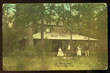 c1910 Vintage Cafe Botay Villa camp Twin Lakes Wisconsin  Postcard