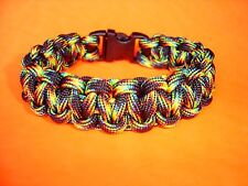 550 ParaCord Survival Cobra Braided Bracelet - Galaxy Colored 7 1/2 inch dia.