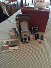 VINTAGE POLAROID LAND CAMERA 800 WITH LEATHER CASE AND ACCESSORIES Props
