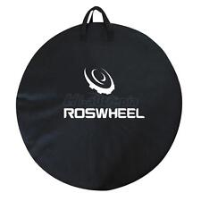 1x ROSWHEEL Bike Travel Transport Wheel Bag Cycle Bicycle Box Case Luggage Black