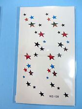 US Seller- temporary tatoos mini tiny stars removable sticker temporary tattoo