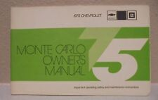 1975 Chevy Monte Carlo Owners Manual Owner's Guide Book