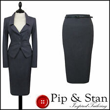 NEXT UK14 US10 AIR FORCE BLUE PENCIL SKIRT SUIT 40S 50S WOMENS LADIES WOMAN SIZE