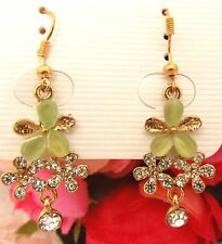 Girls/Ladies Crystal Flowers Rhinestone Earrings new