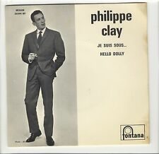 SP juke-box Philippe Clay Je suis sous... Nougaro  Hello Dolly encart photo