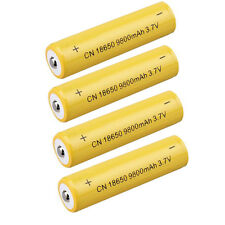 4PCS 3.7V 9800mAH Li-ion Rechargeable 18650 Battery For Flashlight Torch Durable