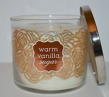 NEW BATH & BODY WORKS WARM VANILLA SUGAR SCENTED CANDLE 3 WICK 14.5 OZ LARGE