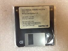 Data I/O 326-0487-007, MS DOS 1.44 MB, 3900 Series Programming DIsk PC Use ONLY!
