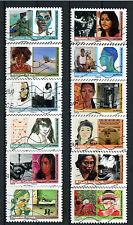 France 2009 Femmes du Monde - complete set 12 used stamps VF