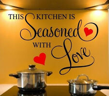 Wall Stickers Wall Decals Wall Quotes Kitchen Seasoned with Love