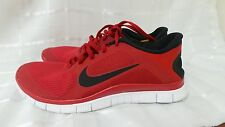 Men Nike Free 4.0 V3 Running Shoes  586297-607 Livestrong Gym Red Size 10  182N