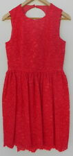 NEW Kate Spade High Low Lace Dress Geranium Red Cutout Keyhole Back 6 NWT $498