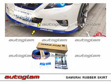 Original Samurai Rubber Skirting for all Cars - Blue Color,  Comes with 3M Tape